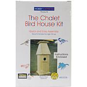 Pinepro Chalet Wood Bird House Kit - Unfinished