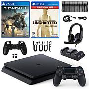 PS4 Slim 1TB Console with Titanfall 2, Nathan Drake and Accessories...