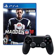 PS4 Wireless DualShock 4 Controller & Madden NFL18 Game