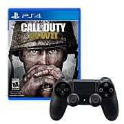 PS4 Wireless DualShock 4 Controller+Call of Duty: WWII