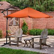 Pure Garden Offset 10' Aluminum Hanging Patio Umbrella