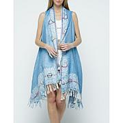 Raj Shana Thickstitch Embroidered Vest