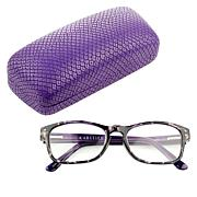 Rarities Eddie Purple Tortoise Readers with Case and Cleaning Cloth