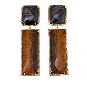 Rarities Tiger's Eye Multigemstone Drop Gold-Plated Earrings