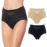 Rhonda Shear 2-pack Mesh Inset Brief