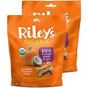Riley's Organics  Pumpkin & Coconut Large Bone Dog Treats 2 Pack 5 ...