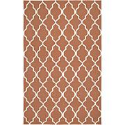 Rizzy Home Swing Hand Woven Dhurrie Rug Terracotta