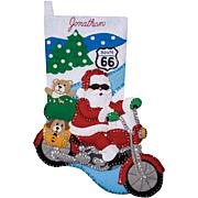 "Route 66 16"" Stocking Felt Applique Kit"