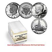 S-Mint Proof Random Year John F Kennedy (JFK) Half Dollar 20-Coin Roll