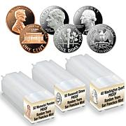 S-Mint Proof Random Year Penny, Dime and Quarter 3-Tube Set