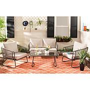 Safavieh Benjin 4-Piece Living Set - Beige, White