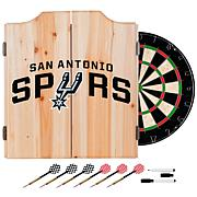 San Antonio Spurs NBA Wood Dart Cabinet Set