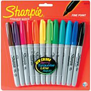 Sharpie Permanent Marker Fine Point Assortment - 12/Pkg