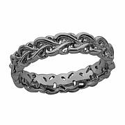 Simply Stacks  Sterling Silver Intertwined Heart Ring