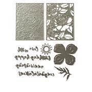 Sizzix® Thinlits Floral Latice and Script Sentiments Die Set