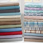 Sleep Philosophy Micro Fleece Sheet Set - Grey Plaid