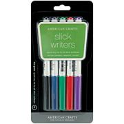 Slick Writer Marker 5-Pack -Fine Point Black, Blue, Red, Green and ...