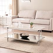 Southern Enterprises Ridley Faux Marble Cocktail Table