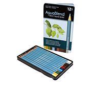 Spectrum Noir 12-piece AquaBlend Watercolor Pencil Set - Earth Tones