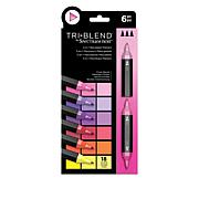 Spectrum Noir 6-piece Tri-Blend Marker Pens - Floral Blends