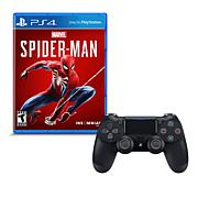 """Spider-Man"" Game for PS4 with Dualshock 4 Wireless Controller"