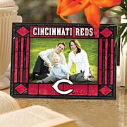 Sports Team Art Glass Picture Frame - Reds