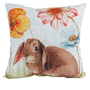 Spring Collection Decorative Bunny Pillow
