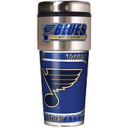 St. Louis Blues Travel Tumbler w/ Metallic Graphics and Team Logo