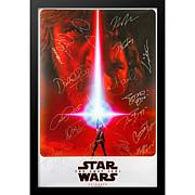 Star Wars The Last Jedi Cast-Signed Movie Poster