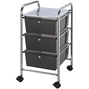 Storage Cart W/3 Drawers - 13X26X45.5 Smoke