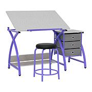 Studio Designs 2-Piece Comet Drafting Table and Stool Set
