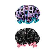 Studio Dry Shower Cap 2pk - Eiffel Tower & Sunglasses