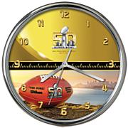 Super Bowl 50 Chrome Clock - 12""