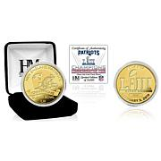 Super Bowl LIII Officially Licensed Limited Gold Mint Coin - Patriots