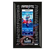 Super Bowl LIII Signature Ticket in Display Frame