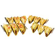 Taco Tuesday Stainless Steel 4-Piece Taco Holder Set