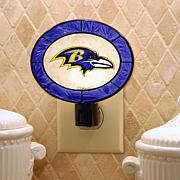 Team Glass Nightlight - Baltimore Ravens