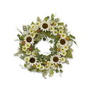 "The Gerson Company 24""D Sunflower Wreath with Berry Accents"