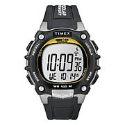 Timex Men's Ironman 100-Lap Black/Silvertone Resin Strap Watch