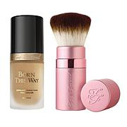 Too Faced Born This Way Light Beige Foundation and Kabuki Brush Set