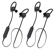 Toshiba 2-pack AirFit3 Water-Resistant Wireless Voice Control Earbuds