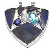 Traveler's Journey Labradorite & Multigemstone Sterling Silver Pendant