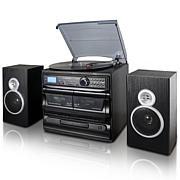 Trexonic 8-in-1 3-Speed Turntable Stereo System w/ Recording