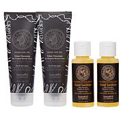 Tweak'd by Nature 4pc Cream and Sanitizer Set - Tribal Chocolate