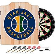 Utah Jazz NBA Wood Dart Cabinet Set