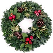 "Van Zyverden Fresh Cut 24"" Pacific Northwest Countryside Wreath"