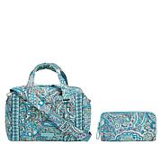 Vera Bradley Iconic Quilted Handbag and Matching RFID Wallet