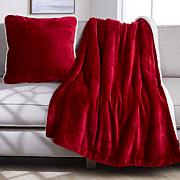 Warm & Cozy Harvest Plush to Sherpa Throw and Pillow Set