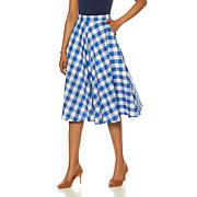 Wendy Williams Gingham Cotton Circle Skirt with Pockets
