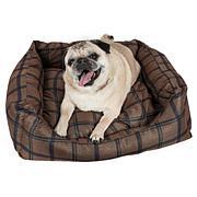 Wick-Away Plaid Rectangular Dog Bed